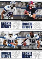 2005 Upper Deck Rookie Debut Dallas Cowboys Team Base set (4 cards)