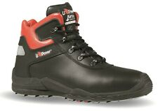 U POWER SATURNO SIZE 11 BLACK LEATHER SAFETY TOE CAP WORK TRAINERS SHOES BOOTS