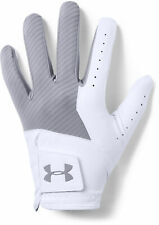 *NEW FOR 2019* Under Armour Medal Golf Glove - White/Grey (S,M,ML,L,XL)