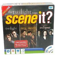 Scene It Deluxe The Twilight Saga Dvd Board Game Complete Screen Life 2+players.