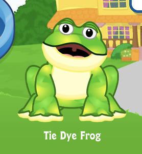 Webkinz Tie Dye Frog Virtual PET Adoption Code Only Messaged Webkinz Frog! Cute!