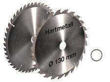 2x HM Kreissägeblatt 130 x 20 mm 24Z + 48Z + 1x Ring 16mm Holz Wechselzahn Säge