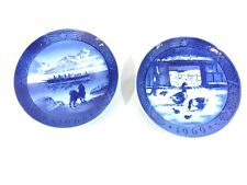 Set of 2 Royal Copenhagen Collector's Plate Kai Lange The Last Umiak & Old Parm