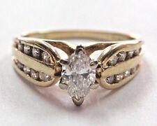 Gorgeous 0.70 ctw Diamond Engagement Ring in 14K Yellow Gold sz 6 LOVESTORY