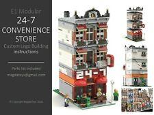 LEGO CUSTOM MODULAR INSTRUCTIONS MANUAL 24-7 CONVENIENCE STORE PDF MOC E1 city