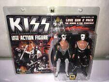 Kiss, Lovegun 2 Pack , 8 Inch Action figures Demon & Starchild Exclusive Rare