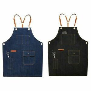 1PC Men/Women Solid Bib Chef Apron with Pocket Adjustable Oil Proof Pinafore