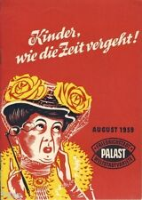 Variete Friedrichstadtpalast Berlin Programmheft 1959 Heinz Quermann Emmi Merz