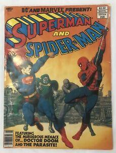Marvel Treasury Edition No. 28 (1976, Marvel and DC) FN Superman Spider-Man