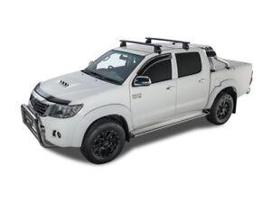 Rhino Rack Vortex 2500 Black 2 Bar Hilux Dual Cab 04/05 - 09/15 (JA2139)