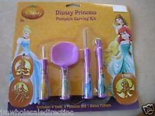 New ! Disney Princess  Halloween Pumpkin Carving Kit 51934 4 Tools included