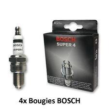 4 Bougies 0242236560 BOSCH Super FORD FIESTA IV 1.3 i 60 CH