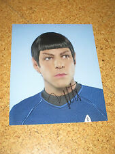 Star Trek ZACHARY QUINTO Originalautogramm GROSSFOTO! Spock