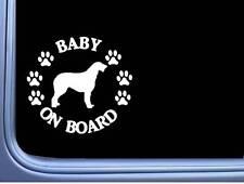 "Baby on Board Irish Wolfhound L538 6"" Sticker dog decal"