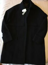 J CREW 2 Collection Double-Cloth Trench Coat Black b1650 $450 NWT NEW
