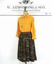 Wool Blend Casual Floral Skirts for Women