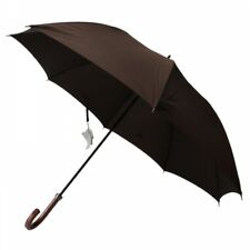 New Burberry Umbrella Horse mark Wood handle Brown Mens 65cm from Japan