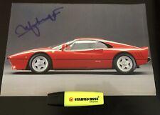 Autographe Photo Signed Ingénieur Materazzi Pininfarina Ferrari 288 GTO