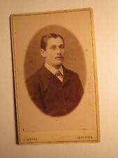 Mann im Anzug - Portrait / CDV J. Weiss Göppingen