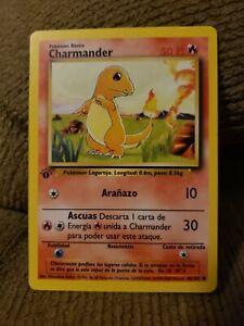 1st Edition Spanish Charmander 46/102 Base Set - Common Pokemon Card - NM/Mint