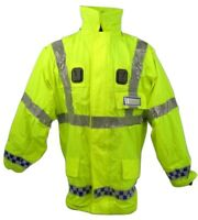 Ex Police Hi Vis Waterproof Breathable Keela Munro Jacket With Reflective Strip