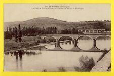 cpa FRANCE 24 - LE BUISSON (Dordogne) PONT de VIE et PONT du CHEMIN de FER