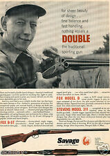 1957 Print Ad of Savage Fox B-ST Double Barrel Shotgun