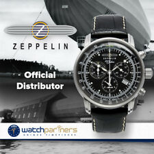 ZEPPELIN 100 YEARS 7680-2 QUARTZ WATCH SWISS RONDA MOVEMENT 50M WR BLACK DIAL