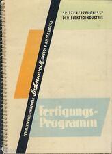 VEB Sachsenwerk Niedersedlitz Fertigungsprogramm Elektromaschinen DDR 1959