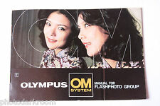 Olympus OM System Flash Photo Group Sales Brochure Book - English - USED B58