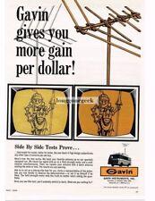 1968 Gavin V-Yagi Outdoor TV Antenna Vtg Print Ad