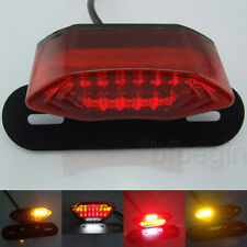 Motorrad ATV LED Rücklicht Kennzeichenbeleuchtung E-Geprüft Bremslicht Blinker