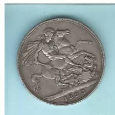 GROßBRITANNIEN, Victoria.,  Crown 1893/LVI, Silber 28,0gr. 0.925