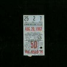 8-20-1962 Houston Colt .45s @ Philadelphia Phillies Baseball Ticket