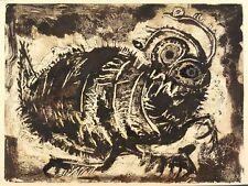 AGATHE BÖTTCHER - GREGOR SAMSA (DIE VERWANDLUNG VON KAFKA) - Monotypie 1966