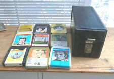 8 track tapes and case - Vintage
