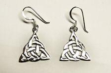 Ohrringe KNOTEN keltisch Bänder Talisman Amulett ECHT Silber 925 Mystik SS225