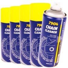 5x 400 ml Ketten Reiniger Spray Motorrad Roller Fahrrad Kettenreiniger Fettlöser