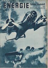 Energie 1939 Heft 12 Treffgenauigkeit (Waffen), Tonfilm, Rundfunktechnik