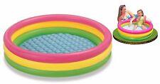 paddling pool 178 x 38 cm round waffle swim garden water  4 ring