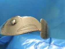 NATIVE AMERICAN NORTH COAST STERLING EAGLE BRACELET BY BILL J WILSON VINTAGE