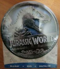 NEW Sealed Jurassic World Collectible Tin With Blu-Ray, DVD & Digital HD Downlod