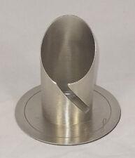 Kerzenständer EINZIGARTIG Weiß Taufe Kommunion Modern Design Metall 90//40mm