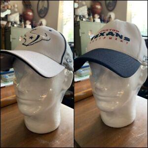 2 Vintage Houston Texans Athletic Reebok Flex Hat Cap NFL Team Early 2000's NOS