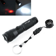 600 Lm 7+1 XPE LED Red Laser Pointer Flashlight Super Bright Torch With Keyring