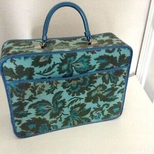 Vintage Avon Rep Sample Carrying Case Overnight Tapestry Bag Suitcase