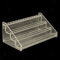 3 Tiers Acrylic Pigment Rack Organizer Paint Bottle Brush Storage Holder
