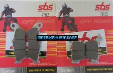 SBS Pastillas De Freno Delanteras Y Traseras Set-Yamaha YZF250 YZ250F 2009 2010 2011 2012 2013