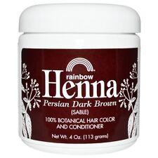 Rainbow Research Henna 100 Natural Color Hair Dye Persian Dark Brown 113gm