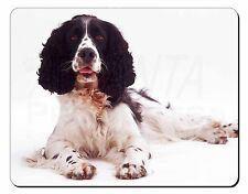 Black and White Springer Spaniel Computer Mouse Mat Christmas Gift Idea, AD-SS7M